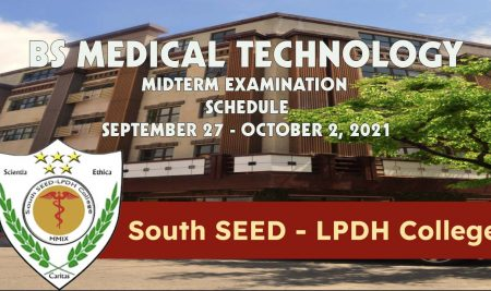 BS Medical Technology Midterm Examination Schedule