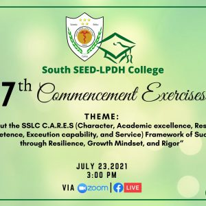 SSLC holds 2021 7th Commencement Exercises