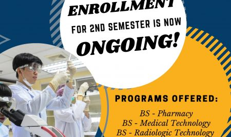 Enrollment for Second Semester is Now Ongoing!
