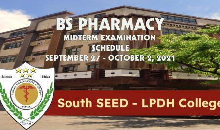 BS Pharmacy Midterm Examination Schedule